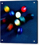 9 Ball Break Acrylic Print by Nick Kloepping