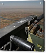 A .50 Caliber Machine Gun Points Acrylic Print by Stocktrek Images