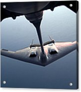 A B-2 Spirit Bomber Conducts Acrylic Print by Stocktrek Images