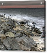 A Cold Day On A December Beach Acrylic Print by Lee Dos Santos