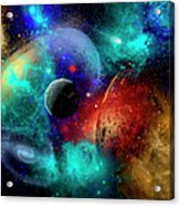 A Colorful Part Of Our Galaxy Acrylic Print by Mark Stevenson