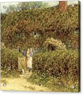 A Cottage At Freshwater Isle Of Wight Acrylic Print by Helen Allingham