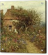 A Cottage Near Brook Witley Surrey Acrylic Print by Helen Allingham