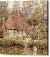 A Cottage Near Haslemere Acrylic Print by Helen Allingham