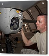 A Crew Chief Works On Mq-1 Predators Acrylic Print by HIGH-G Productions