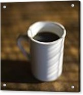 A Cup Of Coffee At A Diner Acrylic Print by John Burcham