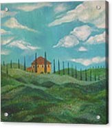 A Day In Tuscany Acrylic Print by John Keaton