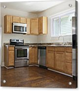 A Domestic Kitchen Interior Acrylic Print by Roberto Westbrook