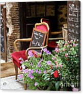 A French Restaurant Greeting Acrylic Print by Lainie Wrightson