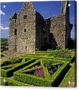 A Garden In Front Of Tully Castle Near Acrylic Print by The Irish Image Collection