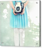 A Girl And Her Camera Acrylic Print by Stephanie Frey