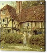 A Kentish Cottage Acrylic Print by Helen Allingham