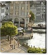 A Lucerne Street Scene In The City Acrylic Print by Annie Griffiths