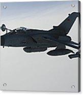 A Luftwaffe Tornado Ids Refueling Acrylic Print by Gert Kromhout