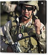 A Military Reserve Navy Seal Gives Acrylic Print by Michael Wood