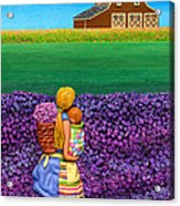 A Moment - Crop Of Original - To See Complete Artwork Click View All Acrylic Print by Anne Klar
