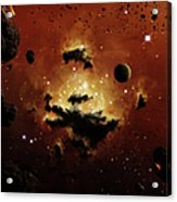 A Nebula Evaporates In The Far Distance Acrylic Print by Brian Christensen