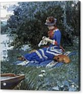 A Quiet Afternoon Acrylic Print by William Henry Lippincott