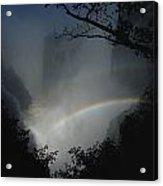 A Rainbow Arcs Across Victoria Falls Acrylic Print by James L. Stanfield