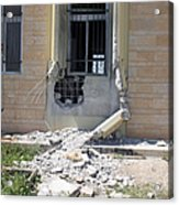 A Rocket Propelled Grenade Damaged This Acrylic Print by Stocktrek Images