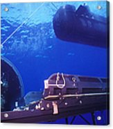 A Seal Delivery Vehicle Hovers Acrylic Print by Michael Wood