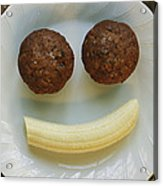 A Smiling Breakfast Of Muffins Acrylic Print by Marc Moritsch