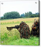 A Sniper Unit Of The Paracommandos Acrylic Print by Luc De Jaeger