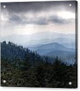 A Storm Over The Smokys Acrylic Print by Pixel Perfect by Michael Moore