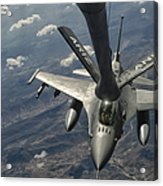 A U.s. Air Force F-16c Block 50 Acrylic Print by Giovanni Colla