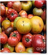 A Variety Of Fresh Tomatoes - 5d17840 Acrylic Print by Wingsdomain Art and Photography