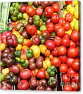 A Variety Of Fresh Tomatoes And Celeries - 5d17901 Acrylic Print by Wingsdomain Art and Photography
