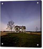 Abandoned Farmhouse At Night Acrylic Print by Cale Best