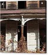 Abandoned House Facade Rusty Porch Roof Acrylic Print by John Stephens
