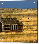 Abandoned Schoolhouse Acrylic Print by Tam Graff