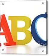Abc Letters On White  Acrylic Print by Sandra Cunningham