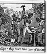 Abolitionist Cartoon Satirizing Slave Acrylic Print by Everett