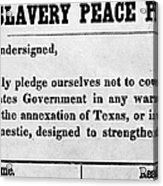 Abolitionist Peace Pledge Acrylic Print by Granger
