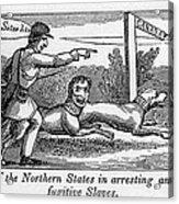 Abolitionist Political Cartoon Acrylic Print by Everett