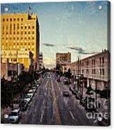 Above College Avenue Acrylic Print by Mark David Zahn