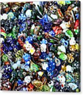 Abstract - Colored Glass Characters Acrylic Print by Paul Ward