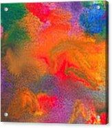 Abstract - Crayon - Melody Acrylic Print by Mike Savad