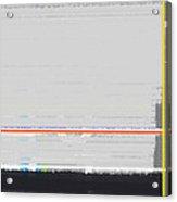 Abstract Yellow Acrylic Print by Naxart Studio