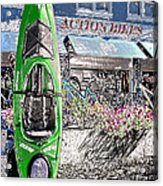Action Bikes Acrylic Print by Guy Harnett