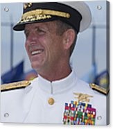 Admiral Eric T. Olson Speaks Acrylic Print by Michael Wood