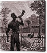 African American Blowing The Wake-up Acrylic Print by Everett