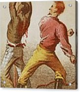 African American Slave Being Whipped Acrylic Print by Everett