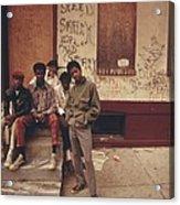 African American Teenage Street Gang Acrylic Print by Everett