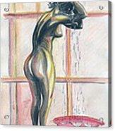 African Woman Acrylic Print by Emmanuel Baliyanga