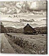 Ah...west Virginia Sepia Acrylic Print by Steve Harrington