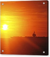 Aircraft Carrier Uss Enterprise Acrylic Print by Stocktrek Images
